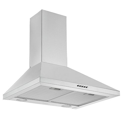 Ancona 24 in. 440 CFM Convertible Wall Mount Pyramid Range Hood in Stainless Steel