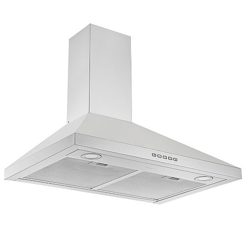 Ancona 30 in. 440 CFM Convertible Wall Mount Pyramid Range Hood in Stainless Steel