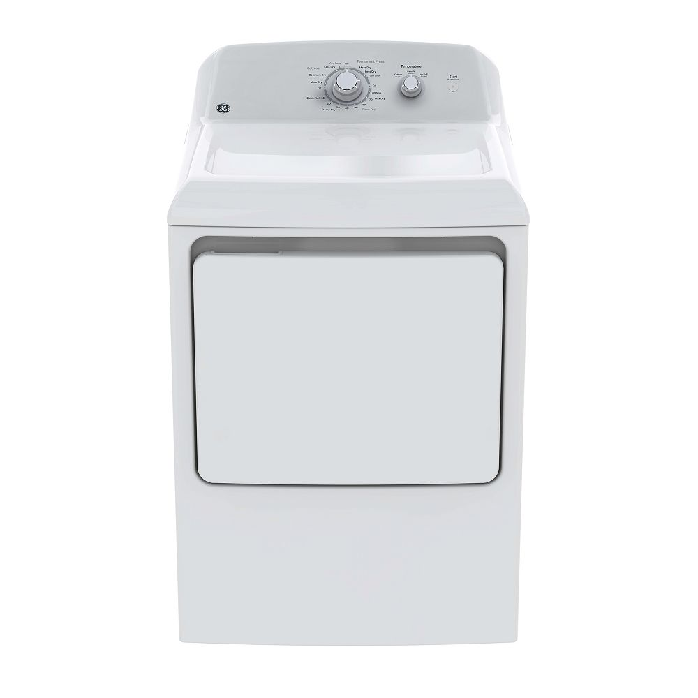 GE 6.2 cu ft. Electric Dryer with DuraDrum - White