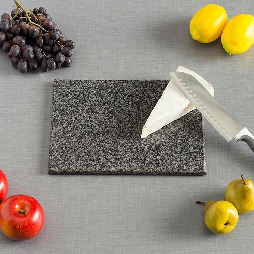 Planche à découper en granit, 8 po x 12 po, noir