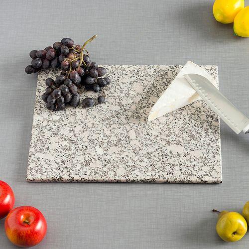 Planche à découper en granite, 12 x 16 po, blanc