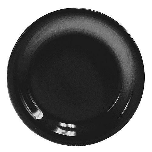 Assiette à dîner en céramique de 10,5 po, noir