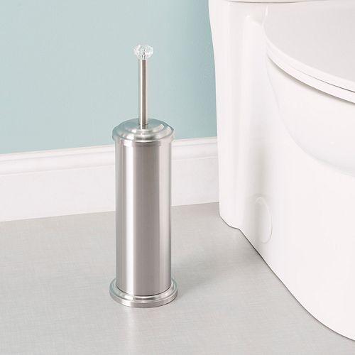 Porte-brosse de toilette en acier inoxydable avec dessus en diamant