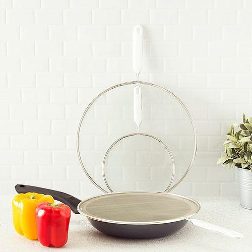 Ensemble de 3 moustiquaires en filet finement nettoyé, blanc