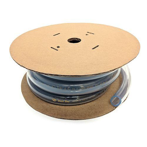 "CANADA TUBING Clear Vinyl Tubing, 1 1/2"" inside diameter x 1 7/8"" outside diameter. 25 ft roll"