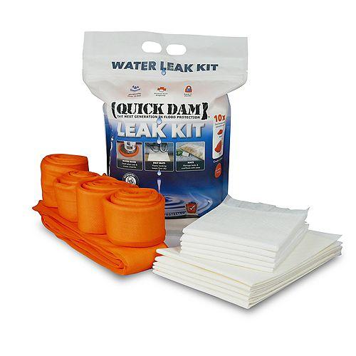 Indoor Leak Kit - Absorbent Mats, Drip Mats and Water Dams