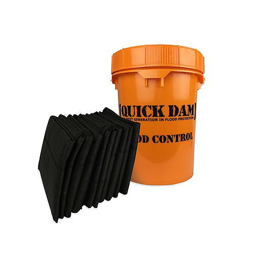 Grab & Go Flood Control Kit - Includes (10) 5 Ft Water Activated Flood Barriers