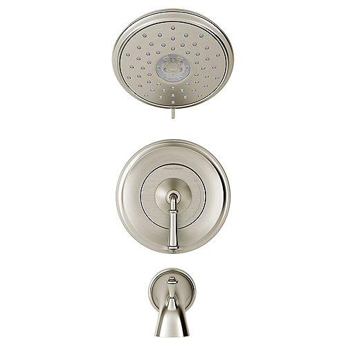 American Standard Delancey Tub  Shower Trim Package 2.5 GPM Multi Function Shower Head Brushed Nickel TU052502.295