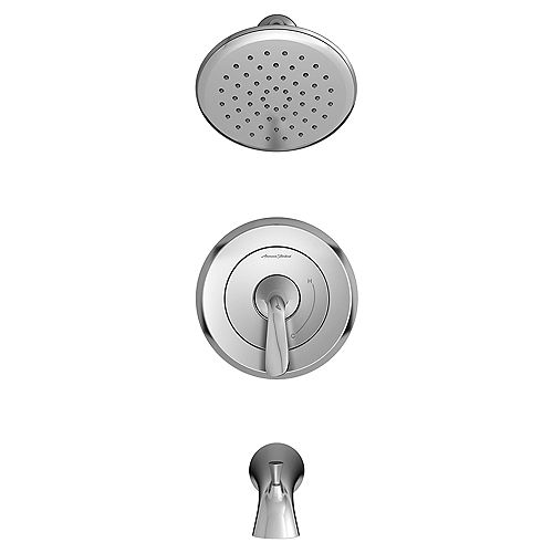 American Standard Fluent Tub and Shower Trim Kit with Water-Saving Shower Head and Cartridge Chrome TU186508.002