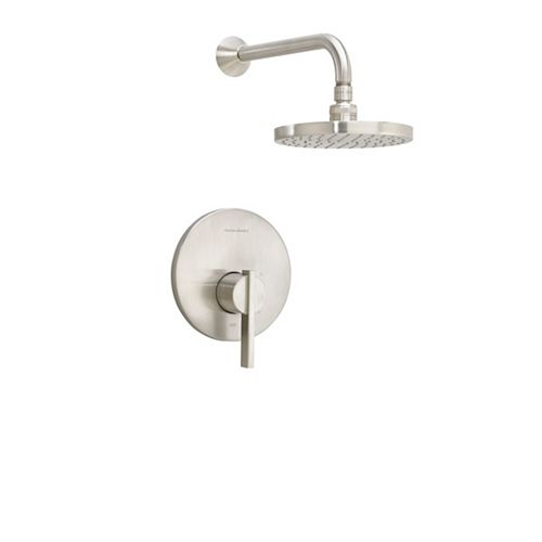 American Standard Boulevard Pressure Balance Bath/Shower Trim  Ceramic Pressure Balance Cartridge Brushed Nickel
