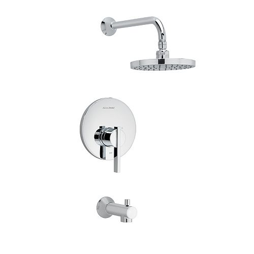 American Standard Boulevard Tub and Shower Trim Kit with Cartridge Brushed Nickel TU431502.295