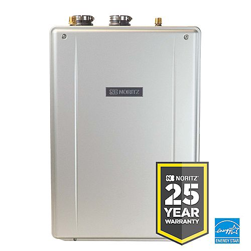 Noritz EZ Series 37.1 LPM 180,000 BTU Indoor Residential Liquid Propane Gas Tankless Water Heater