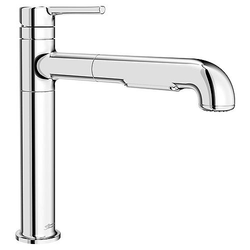 American Standard Studio S Single-Handle Pull-Out Sprayer Kitchen Faucet with Dual Spray in Polished Chrome