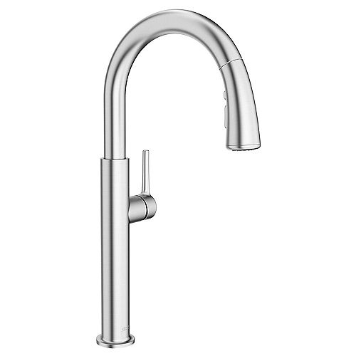 Studio S Single-Handle Pull-Down Sprayer Kitchen Faucet with Dual Spray in Stainless Steel