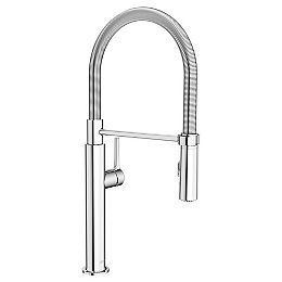 Studio S Single-Handle Pull-Down Sprayer Kitchen Faucet with Spring Spout in Polished Chrome