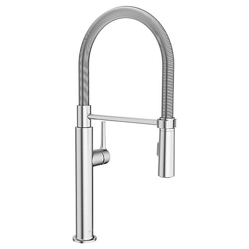 Studio S Single-Handle Pull-Down Sprayer Kitchen Faucet with Spring Spout in Stainless Steel