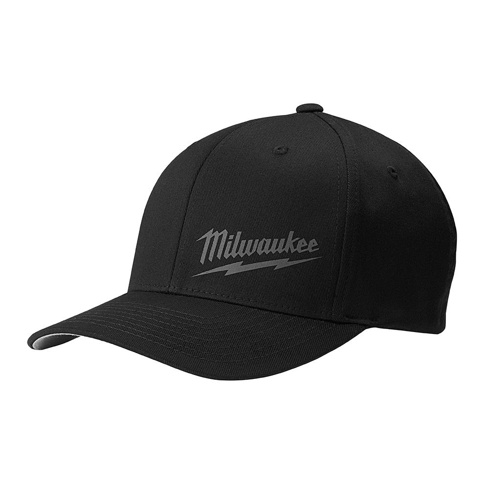 Black Fitted Hat - Large/X-Large
