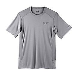 Men's Large Gray GEN II WORKSKIN Light Weight Performance Short-Sleeve T-Shirt