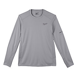 Men's Large Gray GEN II WORKSKIN Light Weight Performance Long-Sleeve T-Shirt