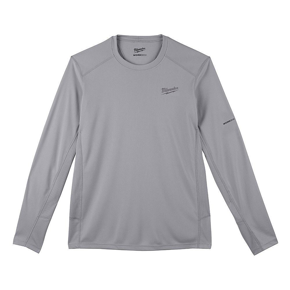 Milwaukee Tool Men's Large Gray GEN II WORKSKIN Light Weight Performance Long-Sleeve T-Shirt