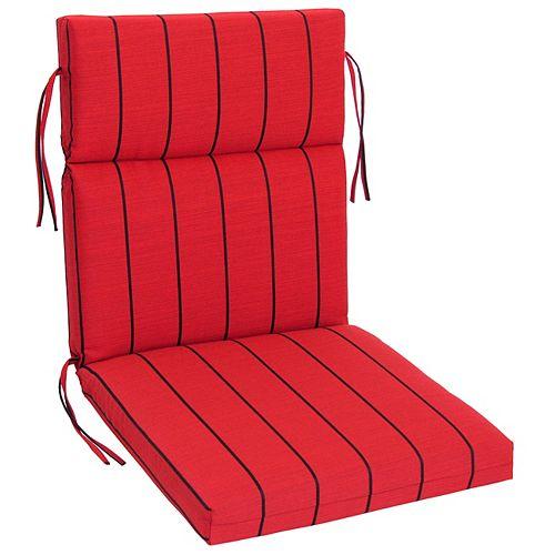 Bozanto Inc. Sunbrella Highback  Red Stripe