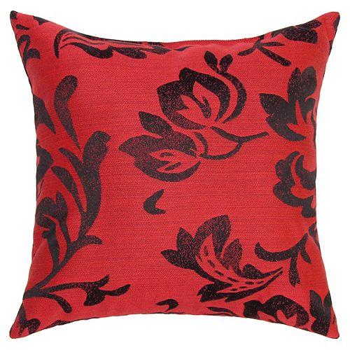 Sunbrella Toss Cushion Red Floral
