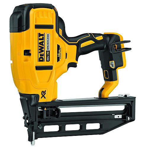 20V MAX XR 16-Gauge Lithium-Ion Cordless Finish Nailer (Tool-Only)