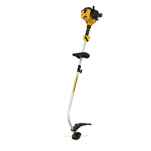 Dewalt 27cc 2-Cycle 17 in. Gas Curved Shaft String Trimmer with Attachment Capability
