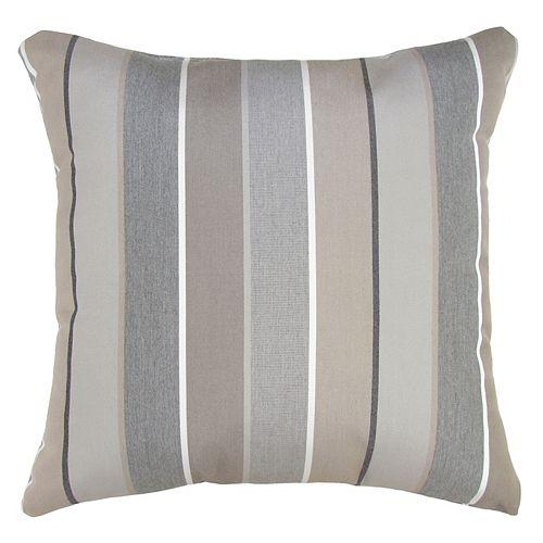 Bozanto Inc. Sunbrella Toss Cushion Beige Stripe