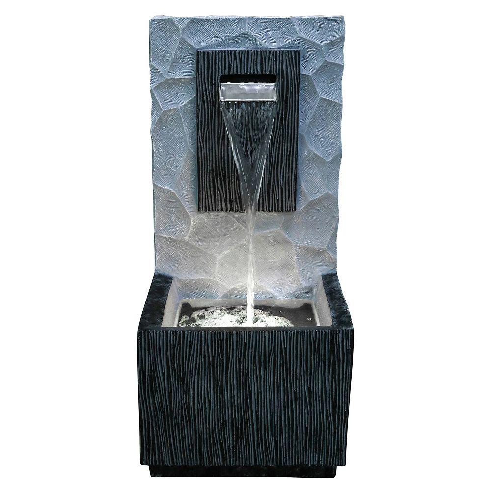 Angelo Décor 32-inch Meso Fountain, includes energy efficient pump and LED accent lighting