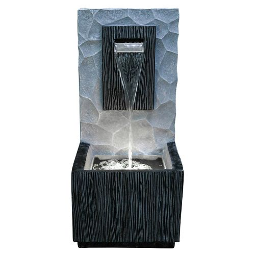 32-inch Meso Fountain, includes energy efficient pump and LED accent lighting