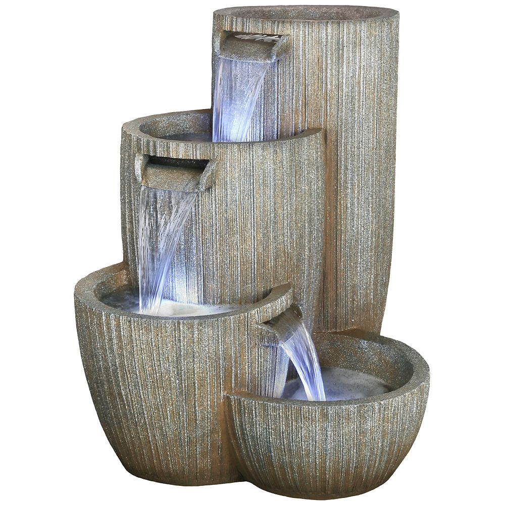 Angelo Décor 32-inch Monterey Fountain, includes energy efficient pump and LED accent lighting