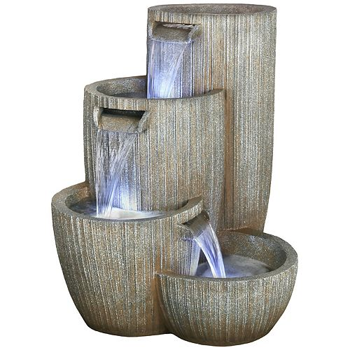 Fontaine Monterey de 81 cm, comprend une pompe écoénergétique et lumières DEL décoratives
