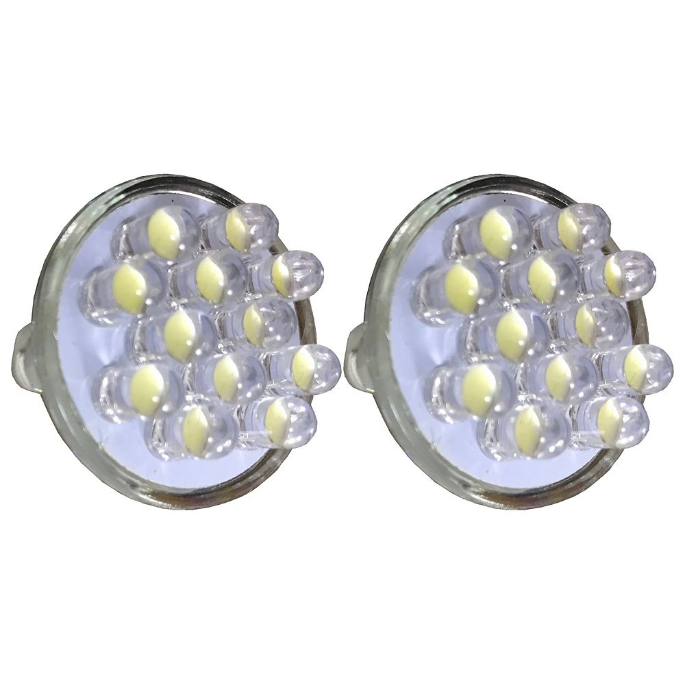 Angelo Décor Replacement LED Bulbs, 60 Lumens, For Pond and Landscape Low Voltage Lighting, Bright White, 2-Pack