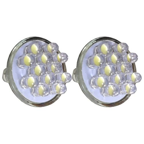 Replacement LED Bulbs, 60 Lumens, For Pond and Landscape Low Voltage Lighting, Bright White, 2-Pack