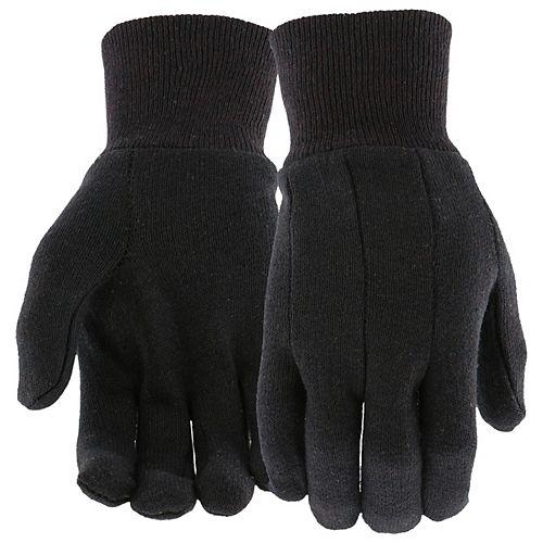 Lot de 3 gants en jersey marron (hommes, grands)