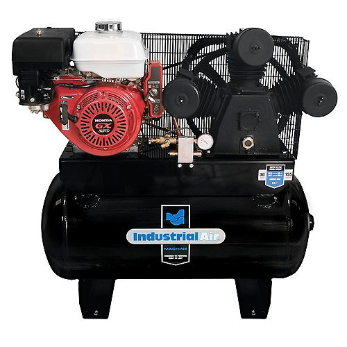 30 Gal. Truck Mount Air Compressor with 9 HP Electric Start Honda Gas Engine