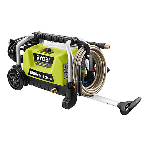 1,800 PSI 1.2 GPM Wheeled Electric Pressure Washer
