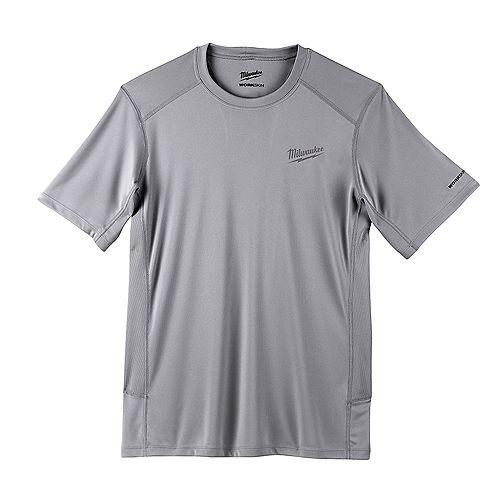 Men's 2X-Large Gray GEN II WORKSKIN Light Weight Performance Short-Sleeve T-Shirt