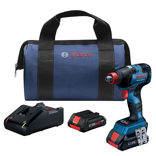 18V EC Brushless Connected-Ready Freak 1/4 inch and 1/2 inch Two-In-One Bit/Socket Impact Driver Kit