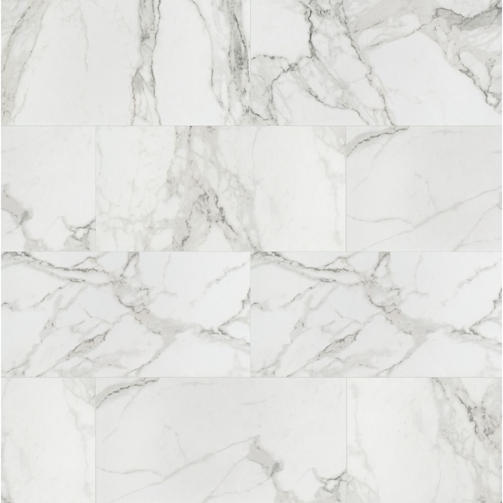 aviva bianco 12 inch x 24 inch polished porcelain floor and wall tile