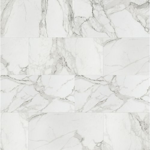 Aviva Bianco 12-inch x 24-inch Polished Porcelain Floor and Wall Tile