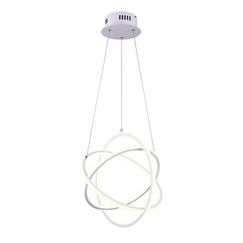 Trinity LED White Chandelier with Acrylic Lens