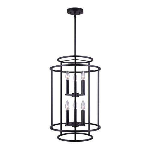 Luca 6-Light Matte Black Chandelier