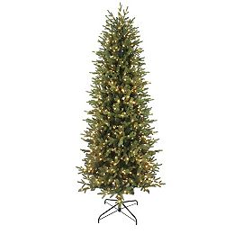 7.5 ft. Jackson Noble Fir Slim LED Pre-Lit Artificial Christmas Tree with 700 Colour Changing Micro Dot Lights