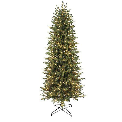 7.5 ft. 700-Light Colour Changing Micro Dot LED Pre-Lit Jackson Noble Fir Slim Christmas Tree