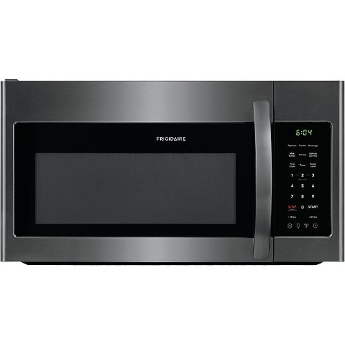 Frigidaire 30-inch W 1.8 cu. ft. Over the Range Microwave in Black Stainless Steel