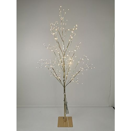 3.5 ft. 390-Light Warm White LED Pre-Lit Gold Christmas Tree