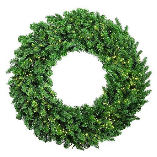 28-inch 450-Light Warm White LED Pre-Lit Christmas Wreath Decoration