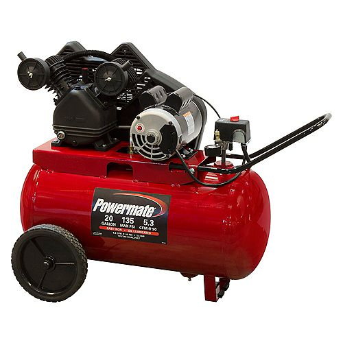 20 Gal. Oil Lubricated Portable Electric Air Compressor